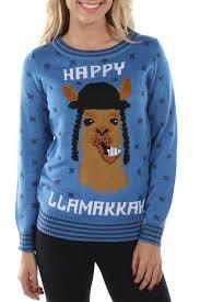 happy hanukkah sweater women s happy llamaka hanukkah sweater tipsy elves