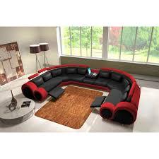 canapé panoramique en cuir rolls 9 places relax