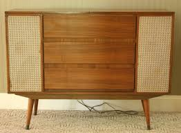 mid century console cabinet mid century modern stereo radio console credenza by gremlina