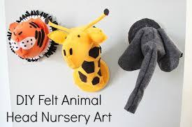 diy nursery art series felt animal head part 2 babycenter blog