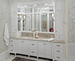 boston built in bathroom victorian with crown molding round
