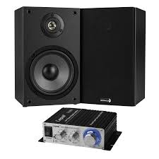 6 1 2 2 way bookshelf speaker pair and hi fi mini lifier bundle