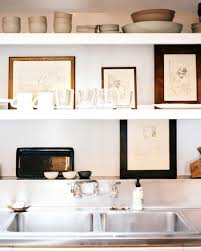 open kitchen shelves decorating ideas furniture decorate open shelves with art for modern kitchen with