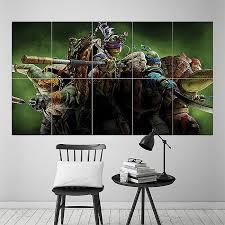 mutant ninja turtles block giant wall art poster