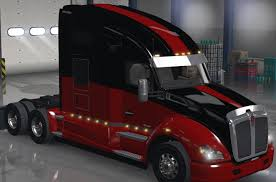 how much does a kenworth t680 cost scs kenworth t680 skin red with changeable base v 1 1 ats