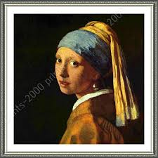 painting girl with the pearl earring framed poster girl pearl earring johannes vermeer painting