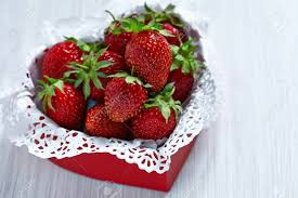 s day strawberries fresh strawberries for s day in a heart shaped box stock
