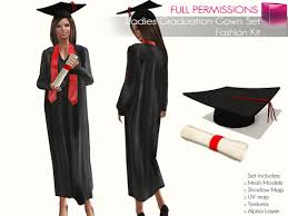 graduation robe second marketplace perm rigged mesh graduation