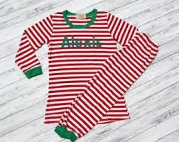 stripe pajamas etsy