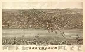 map of cleveland historical map of cleveland oh 1877