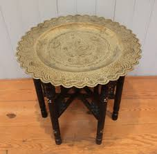 Brass Tray Table Oriental Brass Tray Top Table C 1900 Oriental From Worboys