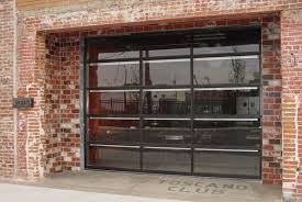 Garage Doors Used by Garage Door Clopay Avante Bronze Anodized Frame With Clear Glass
