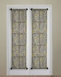 Door Panel Curtains Curtain Idea With Rod At Top And Bottom To Dress Up Bedroom To