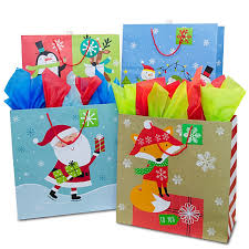 christmas gift bag assorted square jumbo christmas gift bags shop papermart