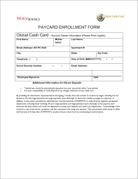 direct deposit card resources support worksource staffing services