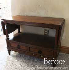 Drop Leaf Console Table French Linen Server Tv Stand Confessions Of A Serial Do It