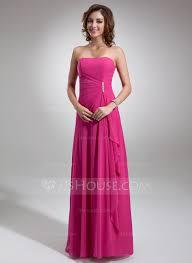 a line sweetheart floor length chiffon bridesmaid dress with side