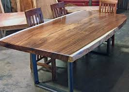 Living Edge Dining Table Natural Live Edge Wood Slab Dining Tableimpact Imports