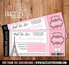 boarding pass invitations printable boarding pass invitation kids ticket invitation