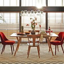 Round Dining Table With Armchairs Mid Century Expandable Dining Table West Elm