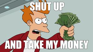Buy All The Things Meme - commercial intent keywords futurama meme business pinterest