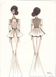 simone welsh fashions wedding dress sketches