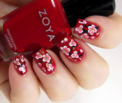 chinese new year nail art flowers nail designs pinterest