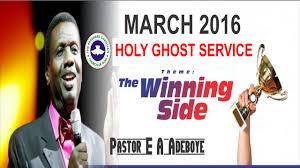 thanksgiving day sermon pastor e a adeboye sermon march 2016 rccg holy ghost service