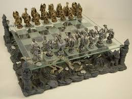 pewter chess set ebay