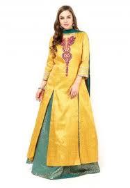 buy yellow lehenga cholis and yellow color designer lehengas online
