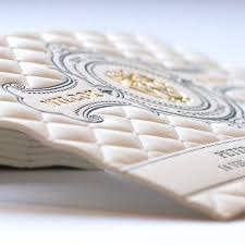 Business Cards With Foil 3d Embossed Business Cards With Gold Foil And Letterpress Printing