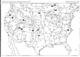 us dewpoint map contour analysis oakfield tornado maps