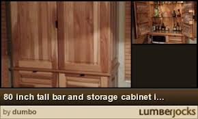 80 inch tall storage cabinet 80 inch tall bar and storage cabinet in hickory by dumbo