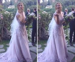 wedding dresses lavender aly michalka ties the knot in lavender wedding dress 2 all
