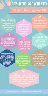 10 tips to ensure gorgeous nails on your wedding day infographic