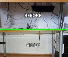 how to organize wires behind desk go from a mess to clean how to hide your desk cords tips