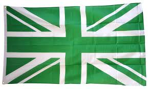 great britain union jack green flag 3 x 5 ft best buy flags co uk
