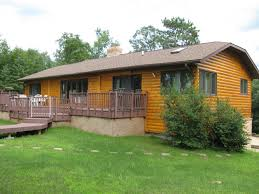 one story log cabins park rapids mn real estate for sale lake homes lakefront cabins