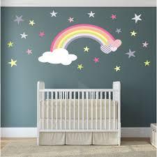 Owl Nursery Wall Decals by Magical Nursery Rainbow Wall Sticker