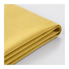 vimle cover for ottoman with storage orrsta golden yellow ikea