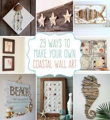 themed bathroom wall decor 29 crafts coastal diy wall crafts diy wall