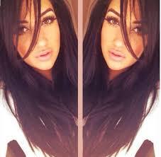 long hair styles with swoop bangs black hair long side swept bangs black hair hair beauty pinterest