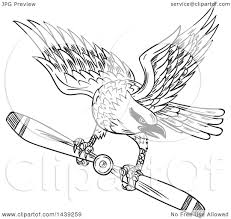 clipart of a sketched black and white shrike bird flying with a