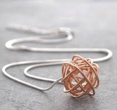 rose gold snake necklace images Rose gold nest necklace with snake chain by otis jaxon silver jpg