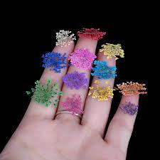 aliexpress com buy nail art decoration 12 colors real nail dried