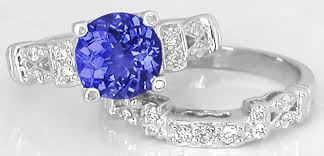 tanzanite wedding rings 8mm tanzanite engagement ring with three matching wedding