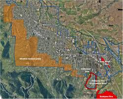 Oregon Fires Map Wildfire Hazard Zone Fire City Of Ashland Oregon