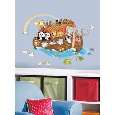 noah u0027s ark giant wall decals noahs arc stickers baby nursery