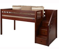Stairs For Bunk Bed by Furniture Wooden Loft Bed With Storage Stairs And Book Shelves