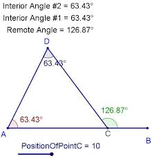 The Interior Angles Of A Triangle Always Add Up To Exterior Angles Of A Triangle Explain Everything Angle Triangle